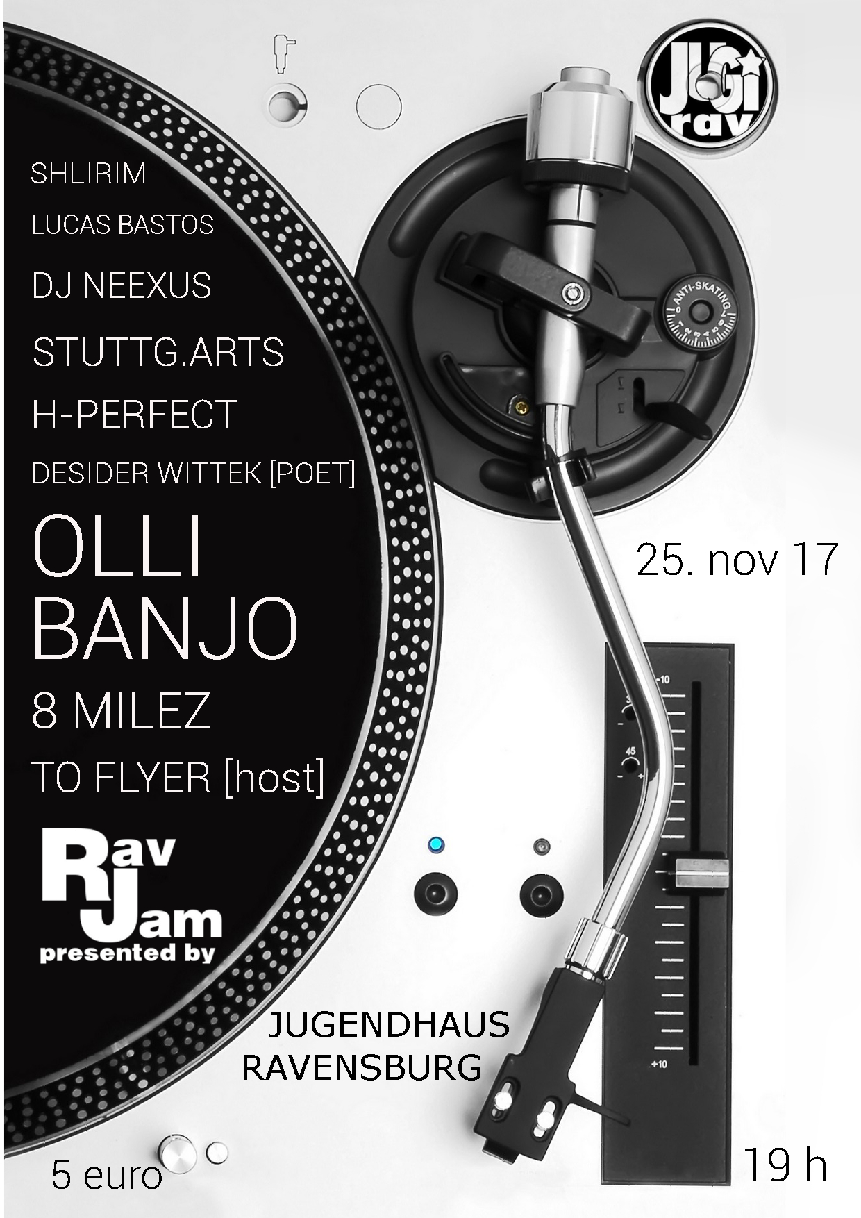 RAV JAM 25.11.2017 Flyer front